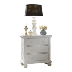 Broyhill - Broyhill Mirren Harbor 3 Drawer Night Stand in White - Broyhill - Nightstands - 4024293 - About This Product: