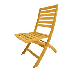 Anderson - Andrew Folding Chair Set of 2 - The Andrew folding teak chair is a very sturdy and versatile chair made of Grade A teak wood.