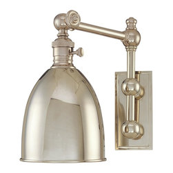 Hudson Valley Lighting - Hudson Valley Lighting 761-PN Monroe 1 Light Wall Sconce, Polished Nickel - This 1 light Wall Sconce from the Monroe collection by Hudson Valley Lighting will enhance your home with a perfect mix of form and function. The features include a Polished Nickel finish applied by experts. This item qualifies for free shipping!