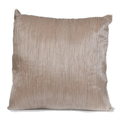 """Concepts Life - Concepts Life Hand Made Decorative Pillow  Subtle Shimmers  Silver - These hand made pillows add shimmer, warmth, and texture to any space, and bring an accent of understated luxury to your home.  Hand-made Materials: Polyester cover and poly filler Spot clean Dimensions: 18""""h x 18""""w Weight: 1.5 lbs Pillow arrives in a vacuum sealed bag Once the pillow is aired and fluffed it will regain its full, soft and plump shape"""