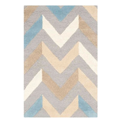 "Safavieh - Bedford Hand Tufted Rug, Grey / Ivory 2'6"" X 4' - Construction Method: Hand Tufted. Country of Origin: India. Care Instructions: Vacuum Regularly To Prevent Dust And Crumbs From Settling Into The Roots Of The Fibers. Avoid Direct And Continuous Exposure To Sunlight. Use Rug Protectors Under The Legs Of Heavy Furniture To Avoid Flattening Piles. Do Not Pull Loose Ends; Clip Them With Scissors To Remove. Turn Carpet Occasionally To Equalize Wear. Remove Spills Immediately. Update your living room, bedroom or entry hall with a beautifully textured Askot area rug featuring an over-scaled Moroccan motif that has graced beautified artisan tile floors for centuries. Hand-tufted of superior wool pile and crafted to endure, this s"