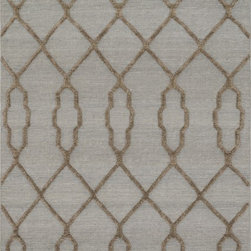 "Loloi Rugs - Loloi Rugs Adler Collection - Slate, 3'-6"" x 5'-6"" - The Adler Collection pushes traditional flat-weaves to new heights. Its innovative high/low texture elevates the wool to form a pronounced pattern and faintly Moroccan style look. Hand-woven of 100% wool in India, Adler is available in a cool, on trend set of neutral colors."