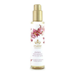 Malie Organics Plumeria Organic Linen & Room Spray - I always give my spare sheets a spray with a pleasant scent before folding them and putting them away. This Malie Organics plumeria scent is one of my favorites.