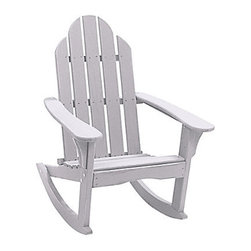 Adirondack Rocker - Adirondack chairs are my favorite. A few years ago, I was gifted two of them for Mother's Day. But this chair? Oh my gosh, it's not just an Adirondack chair. It's a rocking Adirondack chair. I want this — no, no, I need this chair.