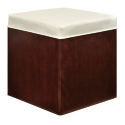 Somerton Soho Storage Ottoman - If you ever partake in last-minute cleaning before company comes over you'll appreciate the Somerton Soho Storage Ottoman. Compact and stylishly versatile in dark brown and cream this piece appears - upon first glance - to serve as a footrest or extra seating but remove the bicast leather upholstered top and you'll find super-convenient storage space perfect for stashing stray items around the house. Or flip the top and you have an instant table ideal for snacks drinks or displaying your favorite pieces. Durable to boot this ottoman is made of hardwood solids with veneers and features squared metal tubing in the base design. About Somerton Home FurnishingsFor over 20 years Somerton has meant quality furniture and a quality company. Its warehouses and distribution centers located both in the United States and China provide environmentally friendly manufacturing locations as well as mindful employment spaces. Quality materials such as eco-friendly rubberwood solid wood and wood veneers are used to create Somerton pieces ... and any Somerton furnishing you choose will make a welcome stylish addition to your home.