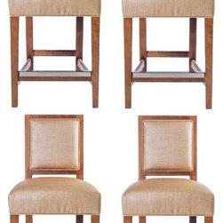 "Mitchell Gold + Bob Williams ""Brewster"" Barstools - Dimensions:L 18''  × W 20''  × H 38''"