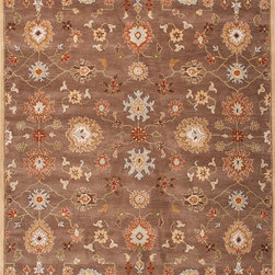 Jaipur Rugs - Transitional Oriental Pattern Beige /Brown Wool Tufted Rug - PM14, 9.6x13.6 - The Poeme Collection takes traditional designs and re-invents them in a palette of modern, highly livable colors. Each design is made from premiere hand-spun wool and crafted with precision for the look and feel of a hand-knotted rug, at the more affordable cost of a hand-tufted. Poeme will effortlessly coordinate individual design elements to finish any room.