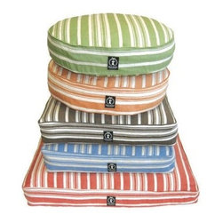 "Harry Barker - Eco-Friendly Organic Hemp Striped Pet Bed - This extremely durable pet bed is made of eco-friendly hemp, and the fabric is 100% organic! The cover to the Eco-Friendly Hemp Striped Pet Bed has been pre-washed, pre-shrunk and is machine washable. All dyes used are natural and azo-free, and the inserts are made from 100% recycled plastics. This extremely comfortable pet bed is available in 2 shapes, as well as 3 sizes. Choose one of 4 classic colors to best suit your pet. Features: -100% organic hemp fabric. -Filled with 100% recycled materials. -Pre-washed and pre-shrunk. -Machine washable. -Available in Blue, Brown, Green and Red Stripes. Rectangle Bed Sizes: -Small: 5"" H x 26"" W x 20"" D. -Medium: 5"" H x 36"" W x 29"" D. -Large: 5"" H x 44"" W x 36"" D."