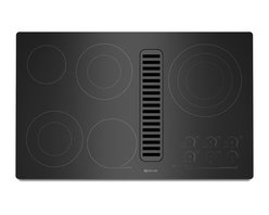 "Jenn-Air 36"" Electric Radiant Downdraft Cooktop, Black On Black 