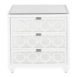 Worlds Away - Worlds Away Ava Nightstand in Marshmallow Lacquer - Worlds Away Ava Nightstand in Marshmallow Lacquer.