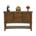 Winners Only - Zahara Buffet Server - Two drawers. Two doors. One shelf. Medium oak finish. 54 in. W x 18 in. D x 36 in. H