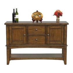Winners Only - Zahara Buffet Server - Two drawers. Two doors. One shelf. Medium oak finish. 54 in. W x 18 in. D x 36 in. H