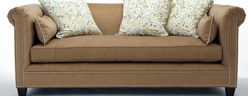 Thom Filicia Collection - This custom made sofa upholstered in fabric designed by Thom Filicia is sure to turn a house into your home.