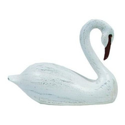 Craft-Tex - Water Fowl 8 in. Fort Monroe Swan in Vintage - Antique and vintage Water Fowl and Decoy reproductions. Award winning designs. Exact reproduction of a Master Carvers original. Hand cast in a variety of mediums to insure the exact detailing of the original wood carving. Crafted by North Carolina artists with attention to detail. Made in USA. Made of pecan shell resin. 1-Year warranty. 6 in. L x 5 in. W x 8 in. H ( 4.5 lbs. )