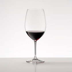 "Riedel - Vinum Bordeaux Red Wine Glass (Set of 8) - Features: -8 Red Wine Glasses. -24% Lead crystal. -Machine-made. -Capacity: 21.5 oz. -Made in Austria -Cleaning & Care: Handwashing Recommended. -Dimensions: 8.9"" H Lead Crystal Disclaimer: California's Proposition 65: California's Proposition 65 entitles California consumers to proper warnings for products that contain chemicals known to the state of California to cause cancer and birth defects, or other reproductive harm, if those products expose consumers to such chemicals above certain levels. While most products sold on our site comply with California Proposition 65, your safety is very important to us, so we hope that the following information will help you with your purchasing decisions. The general Proposition 65 notice is as follows: WARNING: This product contains chemicals known to the State of California to cause cancer and birth defects or other reproductive harm. In addition, the following separate notice applies to leaded crystal glassware: WARNING: Consuming foods or beverages that have been kept or served in leaded crystal products will expose you to lead, a chemical known to the State of California to cause birth defects or other reproductive harm."