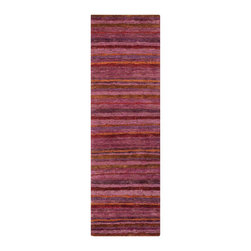 Surya - Trinidad Hand Woven Runner Rug in Cherry / Eggplant / Magenta / Violet (2'6 - Add the cosiness and warmth in your interior with new bright and stylish rug. This Hand Woven Runner Rug from Trinidad Collection is suitable for both indoor and outdoor space. Plush pile texture is very pleasant to touch. You can create warm color accents.    Features: