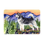 Caroline's Treasures - Alaskan Malamute Kitchen or Bath Mat 24 x 36 - Kitchen or Bath Comfort Floor Mat This mat is 24 inch by 36 inch. Comfort Mat / Carpet / Rug that is Made and Printed in the USA. A foam cushion is attached to the bottom of the mat for comfort when standing. The mat has been permanently dyed for moderate traffic. Durable and fade resistant. The back of the mat is rubber backed to keep the mat from slipping on a smooth floor. Use pressure and water from garden hose or power washer to clean the mat. Vacuuming only with the hard wood floor setting, as to not pull up the knap of the felt. Avoid soap or cleaner that produces suds when cleaning. It will be difficult to get the suds out of the mat.