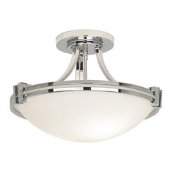"Possini Euro Design Chrome 16"" Wide Ceiling Light Fixture"