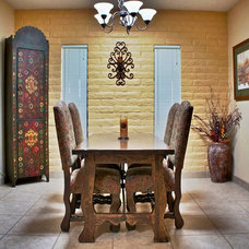Eclectic Dining Room by Stage One Services