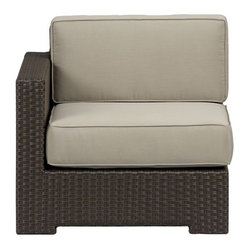 Ventura Modular Left Arm Chair, Sunbrella Stone Cushions