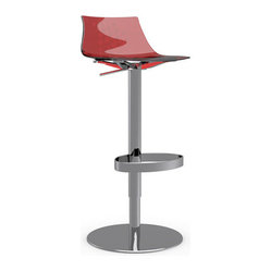 ICE Swiveling with Gas Lift Bar Stool