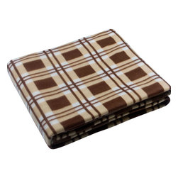"Blancho Bedding - [Scotch Plaids - Brown/Cream/White] Soft Coral Fleece Throw Blanket (71""-79"") - The Coral Fleece Throw Blanket measures 71 by 79 inches. Whether you are adding the final touch to your bedroom or rec-room, these patterns will add a little whimsy to your decor. Machine wash and tumble dry for easy care. Will look and feel as good as new after multiple washings! This blanket adds a decorative touch to your decor at an exceptional value. Comfort, warmth and stylish designs. This throw blanket will make a fun additional to any room and are beautiful draped over a sofa, chair, bottom of your bed and handy to grab and snuggle up in when there is a chill in the air. They are the perfect gift for any occasion!"