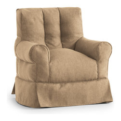 Comfort Research/Big Joe - BIG JOE LUX BABETTE ARM CHAIR, Khaki Hitchcock - Sometimes in life, great things come with not so great costs. For example, the familiar comfort of a traditional framed chair comes with having to justify the price tag to yourself, then figure out how to haul a heavy piece of furniture home. Well, do yourself a favor  and meet the Babette Arm Chair. It has all the curves, comfort and style of a traditional framed chair, but at a fraction of the weight and cost. And thanks to the UltimaX Beans, durable fabric and a rainbow of color options, you'll look as good as you feel when sitting  on a Babette! Made with fade-resistant outdoor fabric. Filled with UltimaX Beans that conform to you.  Double stitched and double zippers. Spot clean.  Available in assorted colors and fabrics (both indoor and outdoor!).