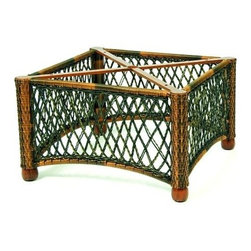 Woodard - Belmar Chat Table - Base Only - All products are made to order. Orders cannot be cancelled after 5 calendar days. If order is cancelled after 5 calendar days, a 50% restocking fee will be applied. Wicker frame. Not recommended for granite or stone table tops. 28 in. D x 20 in. W x 18.5 in. H