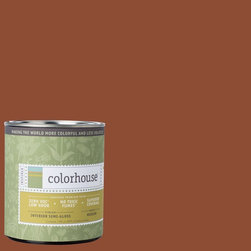 Inspired Semi-Gloss Interior Paint, Clay .04, Quart - Colorhouse paints are zero VOC, low-odor, Green Wise Gold certified and have superior coverage and durability. Our artist-crafted colors are designed to be easy backdrops for living. Colorhouse paints are 100% acrylic with no VOCs (volatile organic compounds), no toxic fumes/HAPs-free, no reproductive toxins, and no chemical solvents.