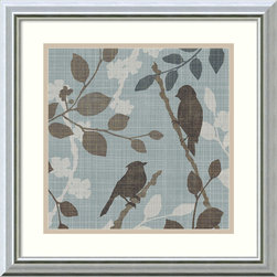 Amanti Art - Tandi Venter 'A Sparrow's Garden II' Framed Art Print 18 x 18-inch - With quiet grace, A Sparrow's Garden by Tandi Venter exudes a soft serenity; perfect for the bird lover, and suits a wide variety of contemporary decor styles.