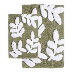 Chesapeake 2 pc. Monte Carlo Bath Rug Set - With its uber-textured, contrasting leaf pattern and 100% thirsty cotton construction, the Chesapeake 2 pc. Monte Carlo Bath Rug Set is a gorgeous set for your master bath. You get two bath rugs with handy latex backing to keep them in place. These machine-washable rugs are easy to care for, too. Simply wash separately in cold water on gentle, add non-chlorine bleach when needed, and tumble dry on low. Choose from several color options.About Chesapeake Merchandising, Inc.Dan Arora is a second-generation entrepreneur with a family background in quality textiles. He established Chesapeake Merchandising in 1995 to provide customers with sumptuous bath, accent, and area rugs, as well as luxurious table linens and bedspreads. Chesapeake has a liaison office in India with a team of professionals committed to finding quality, stylish textiles. This team keeps close watch on sourcing the finest raw materials, exercising control over dyeing and weaving, and completing the finishing stages to ensure there are no compromises when it comes to quality.