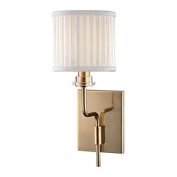 HUDSON VALLEY LIGHTING - Hudson Valley Lighting Gorham-Wall Sconce Aged Brass - Free Shipping