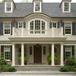 Classic Informality - Daniel Contelmo Architects partners with Timberlane Shutters to bring this magnificent home to life with custom, exterior shutters.