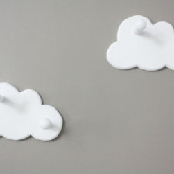 Cloud Wall Hooks by Shop Littles, Set of 2 - Clouds are such a cute and whimsical idea for a kids' — or even an adult's! — room.