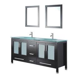 Adornus - Adornus AMARA-60-E-G Espresso Vanity - * Floor standing all Wood Vanity.