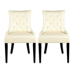 Safavieh - Safavieh Ashley Cream Side Chair (Set of 2) - The Ashley side chair offers classic, yet modern lines and a sense of glamor to formal dining areas, living rooms, and even upscale office settings.