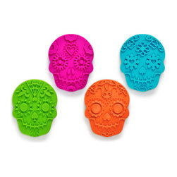 Fred & Friends - Sweet Spirits Cookie Cutters - Mexican tradition encourages a healthy respect for relatives that have passed on to their final reward, especially on the Day of the Dead when the deceased are honored with sweet treats like sugar skulls!
