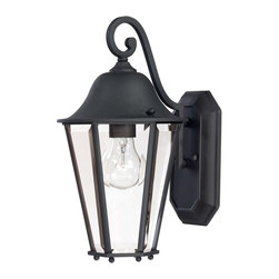 Savoy House - Savoy House Truscott Outdoor Wall Mount Light Fixture in Black - Shown in picture: Give your home a fresh look with this eye-catching group from Savoy House.