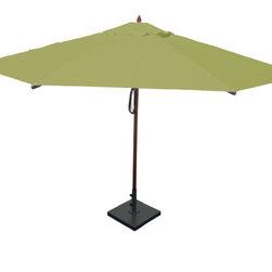 Greencorner - 13' Octagon Mahogany Umbrella, Lime Green - 13' Octagon