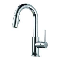Delta - Trinsic Single Handle Pull-Down Bar/Prep Faucet with Diamond Seal Technology - Delta 9959-DST Trinsic Single Handle Pull-Down Bar/Prep Faucet with Diamond Seal Technology in Chrome.