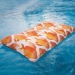 Grandin Road - Serena Pool Float - Covered in your choice of fun and fashionable, designer fabric — much more pleasant to lie on than common vinyl. Generously filled with buoyant polystyrene beads for a personalized fit. Well constructed, so it's rugged enough for pool play. Highly durable, water-, chlorine-, and UV-resistant twill fabric. Features a sturdy loop handle for easy movement about the pool deck. Performance fabric makes our Serena Pool Float one of the most comfortable and colorful on the water. Find your summer bliss, without uncomfortable sticking.  .  . Well constructed, so it's rugged enough for pool play .  .  . Also coordinates with select fabrics from our best-selling Replacement Cushion Program . Supports up to 400 lbs. . Made in USA.