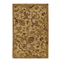 Mohawk Home - Mohawk New Wave Lancaster Cream Transitional 1'8 x 2'10 Rug (11341) - Discover subtle elegance under your feet with this rug. Combining a soothing color palette with stylish floral patterns to produce a fashionable rug. This design offers a touch of elegance to liven up any room throughout your home.  Printed on the same machines that manufacture one of the world