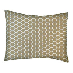 SheetWorld - SheetWorld Crib / Toddler Percale Baby Pillow Case - Khaki Honeycomb - Baby or Toddler pillow case. Made of an all cotton percale/woven fabric. Opening is in the back center and is envelope style for a secure closure. Features a khaki honeycomb print.