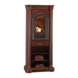 Hearth Sense - Hearth Sense A-Series Tower Wall Mantel in Wood (Cherry) - Finish: Cherry. Arched fireplace insert not included. Tower unit. Made of wood. 34 in. W x 17.5 in. D x 79 in. H