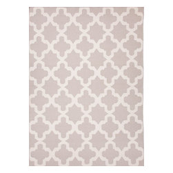 Jaipur - Contemporary Maroc 8'x10' Rectangle Classic Gray-Classic Gray Area Rug - The Maroc area rug Collection offers an affordable assortment of Contemporary stylings. Maroc features a blend of natural Classic Gray-Classic Gray color. Flat Weave of 100% Wool the Maroc Collection is an intriguing compliment to any decor.