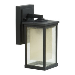Exteriors - Exteriors Riviera Transitional Outdoor Wall Sconce - Small X-29-4073Z - From the Riviera Collection comes this clean and stylish Craftmade outdoor wall sconce with crisp lines and angles that will compliment a variety of outdoor spaces. The body features a rich Oiled Bronze finish that pairs beautifully with the layered glass shade, which is made from a clear seeded exterior and frosted amber interior.