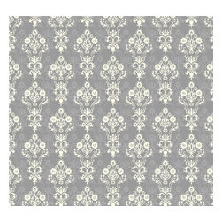 Removable Wallpaper-Enoch-Peel & Stick Self Adhesive, Grays, 24x120 - Couture WallSkins.  Your wall will love you for this.