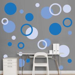 Fathead - Fathead Vinyl Wall Graphic - Blue Polka Dots