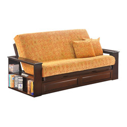 Night & Day Furniture - Night and Day Princeton Futon Frame - Drawers Included - Princeton futon is a part of standard collection by night and day