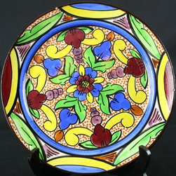 EuroLux Home - Consigned Vintage Spanish Majolica Hand-Painted Plate - Product Details